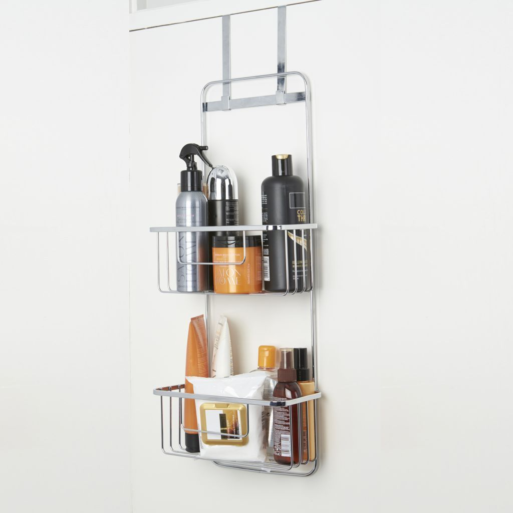 croydex over door bathroom storage caddy rack. Black Bedroom Furniture Sets. Home Design Ideas