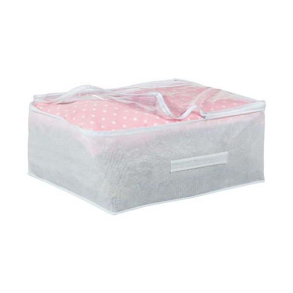 frosted underbed single duvet pillow storage cover bag