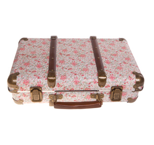 Girls Pink Floral Underbed Bedroom Toy Storage Suitcase Box