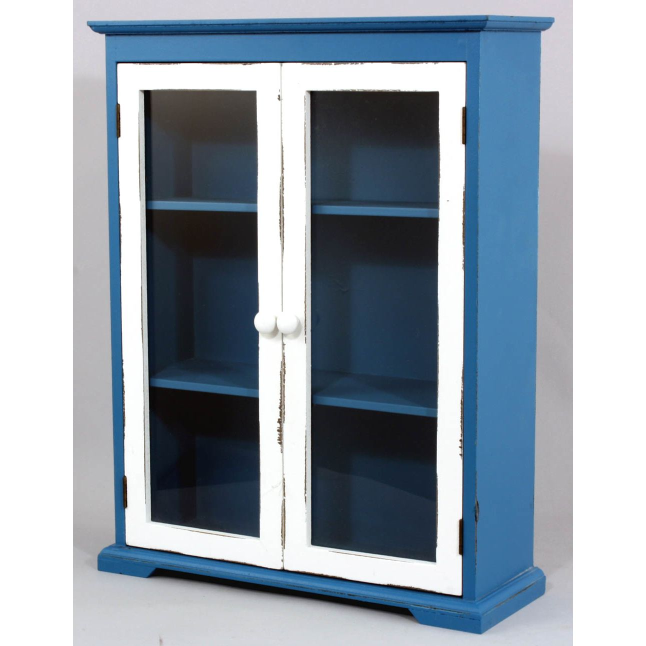 retro bathroom cabinet blue