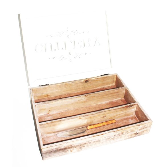 Cutlery box with hinged lid for Cutlery storage with lid