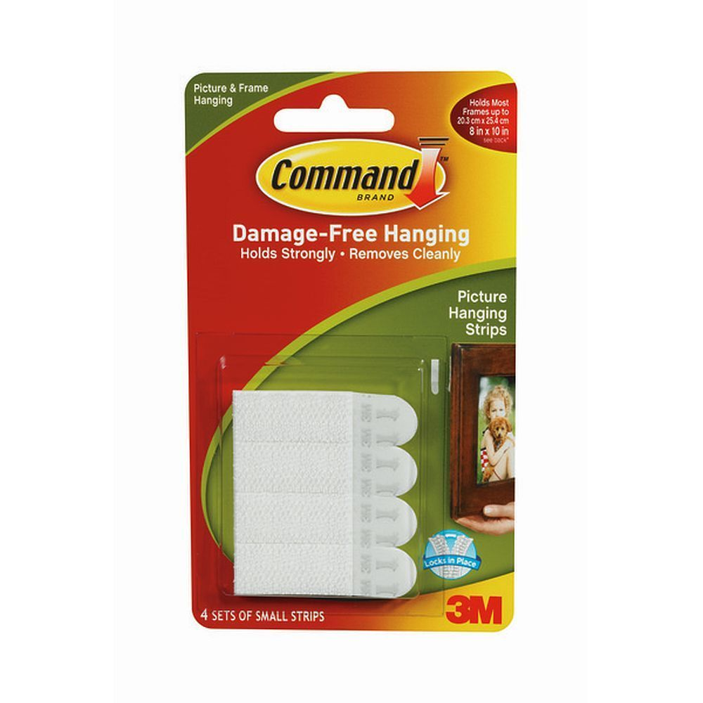 Command Removable Sticky Small Picture Hanging Strips