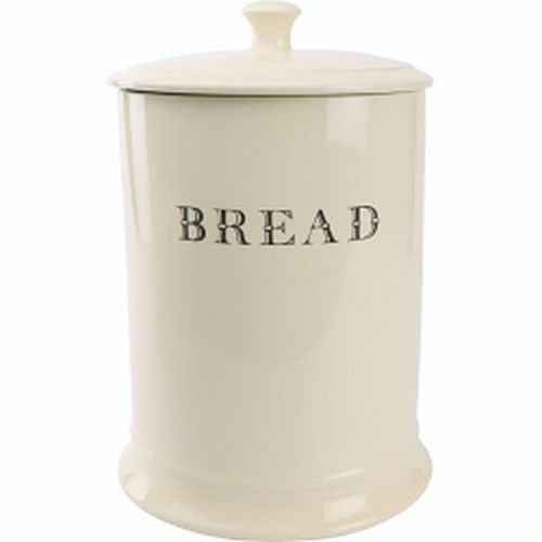 David Mason Cream Round Ceramic Bread Crock