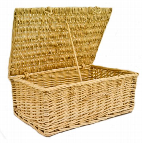 Large Empty Wicker Hamper Storage Basket