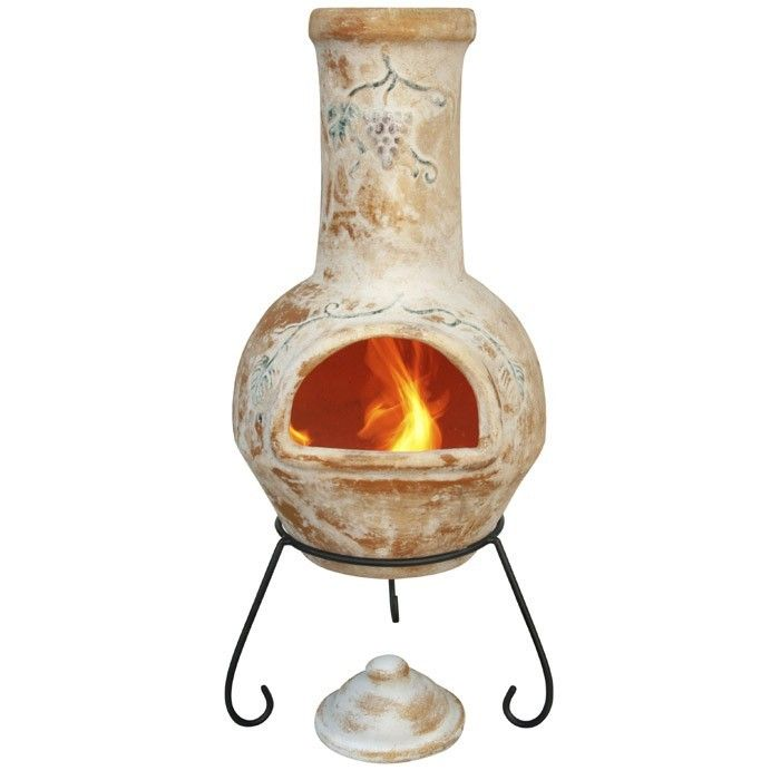 Mexican Clay Chimenea & Stand