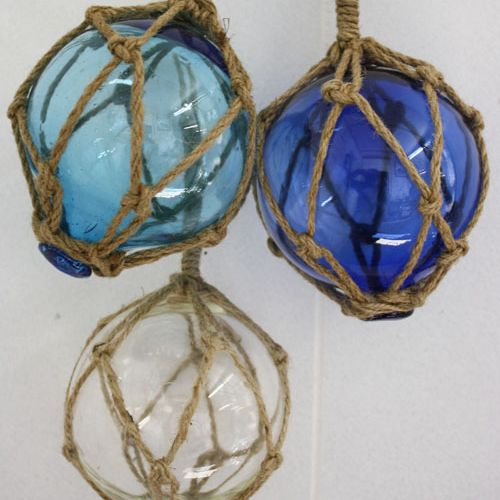 Nautical Glass Balls In Rope