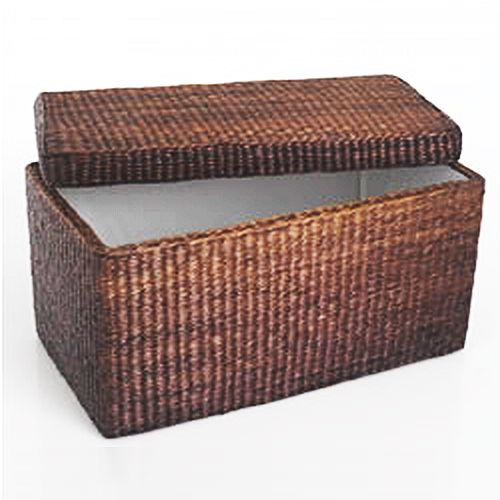 Rattan Basket Storage Bench