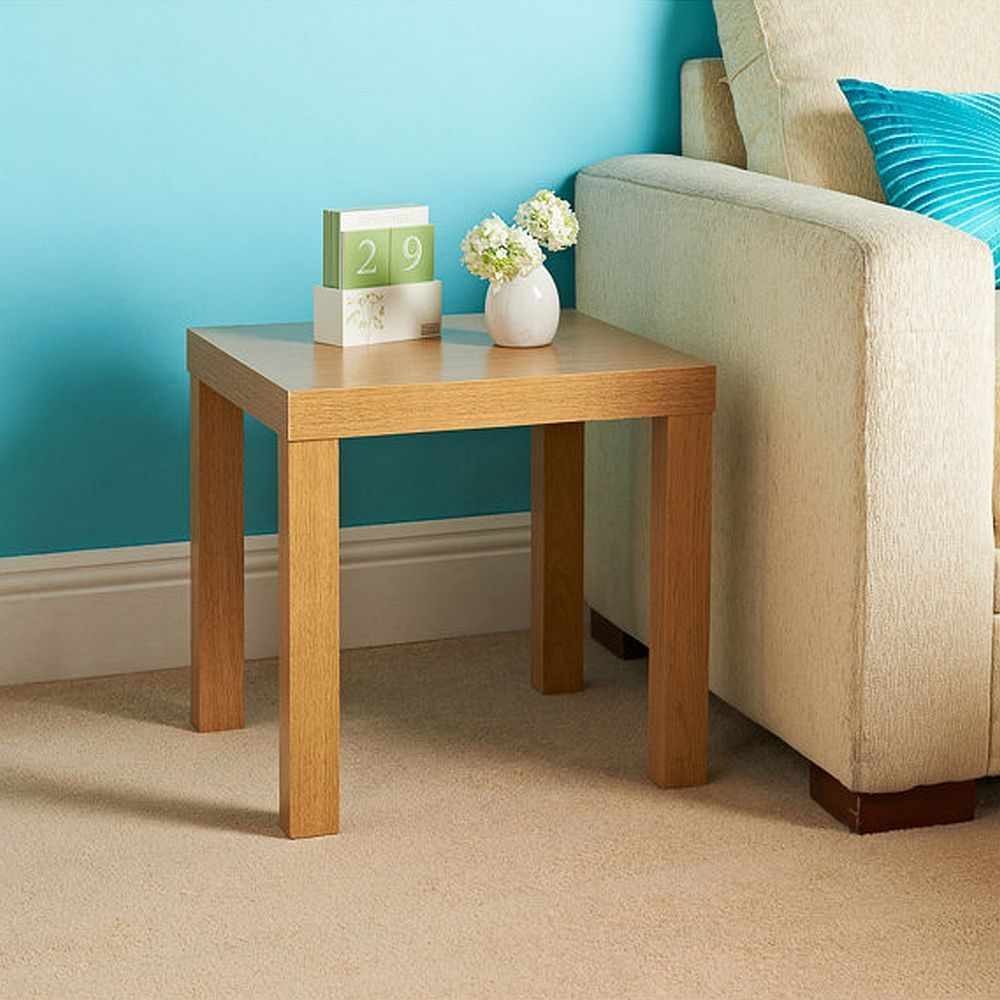Square Oak Effect Side Or Coffee Table