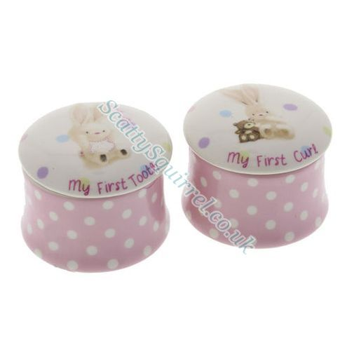 Baby girls first curl tooth boxes gift set for Baby first tooth decoration