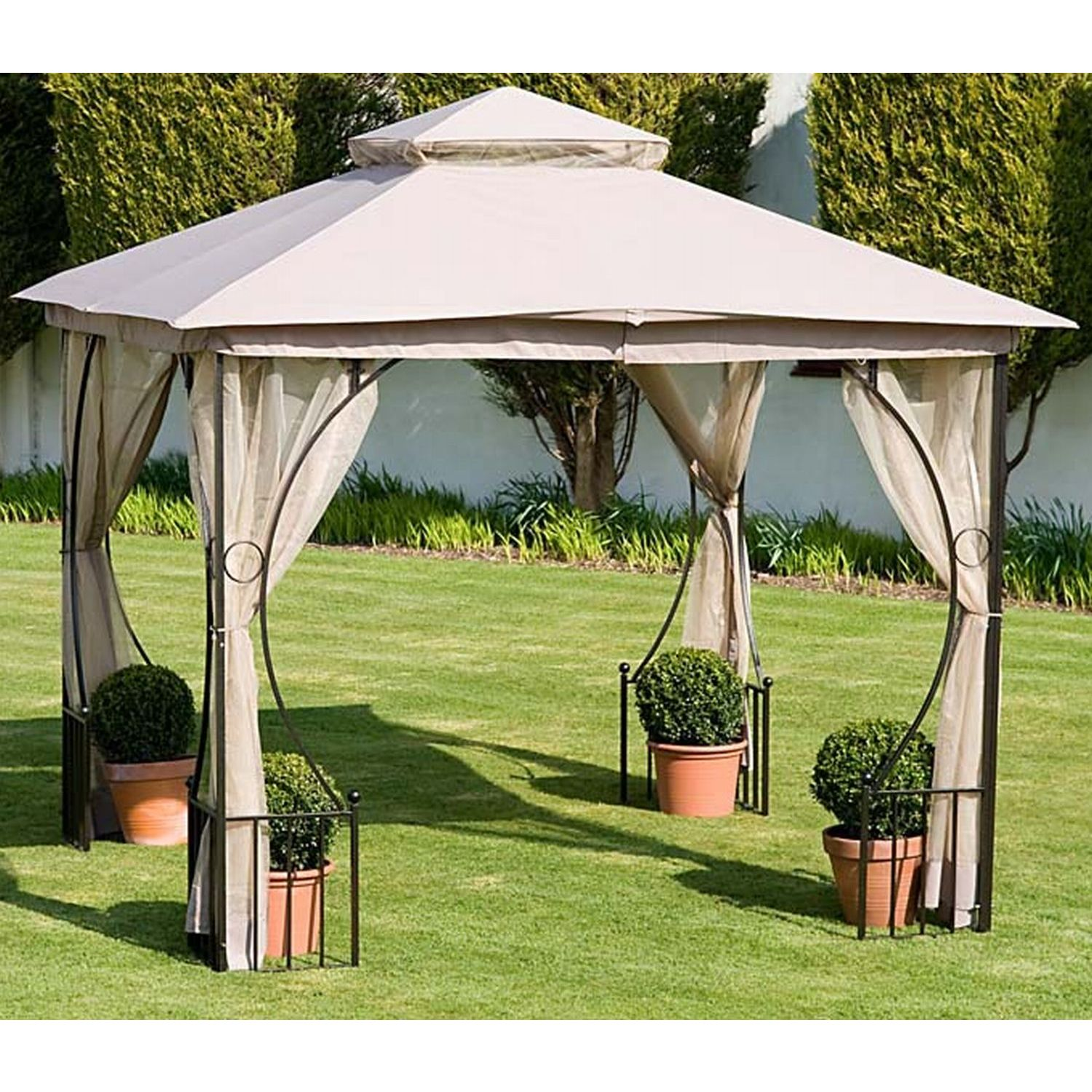 cambridge deluxe garden gazebo. Black Bedroom Furniture Sets. Home Design Ideas