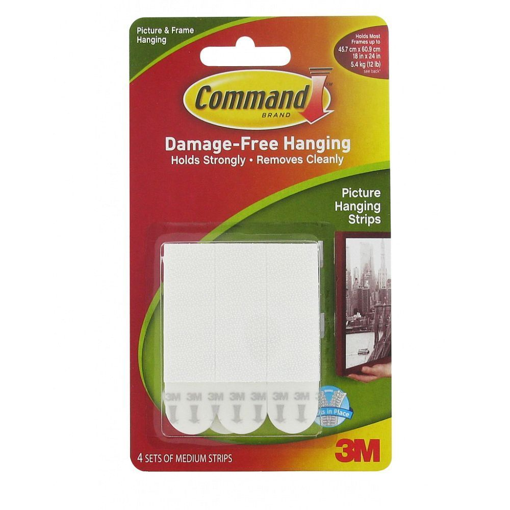 Command Removable Sticky Medium Picture Hanging Strips