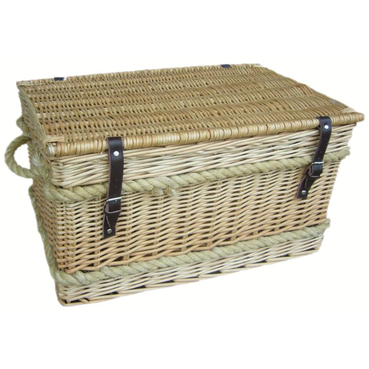 cotswolds willow wicker rope storage trunk 3211 p Seagrass Coffee Table With Storage