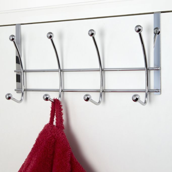 Croydex Over Door Bathroom Robe Towel Hooks