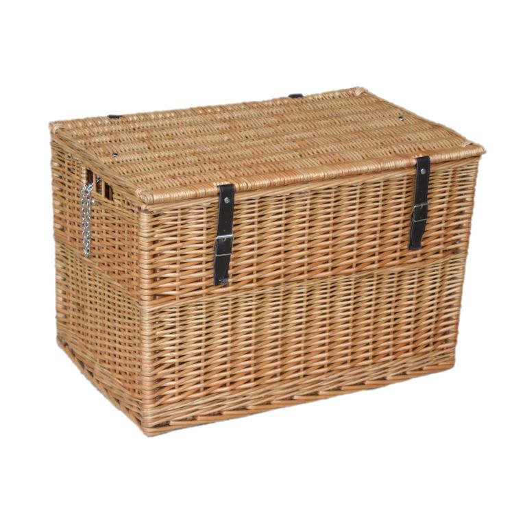 Somerset Huge Wicker Storage Trunk Hamper