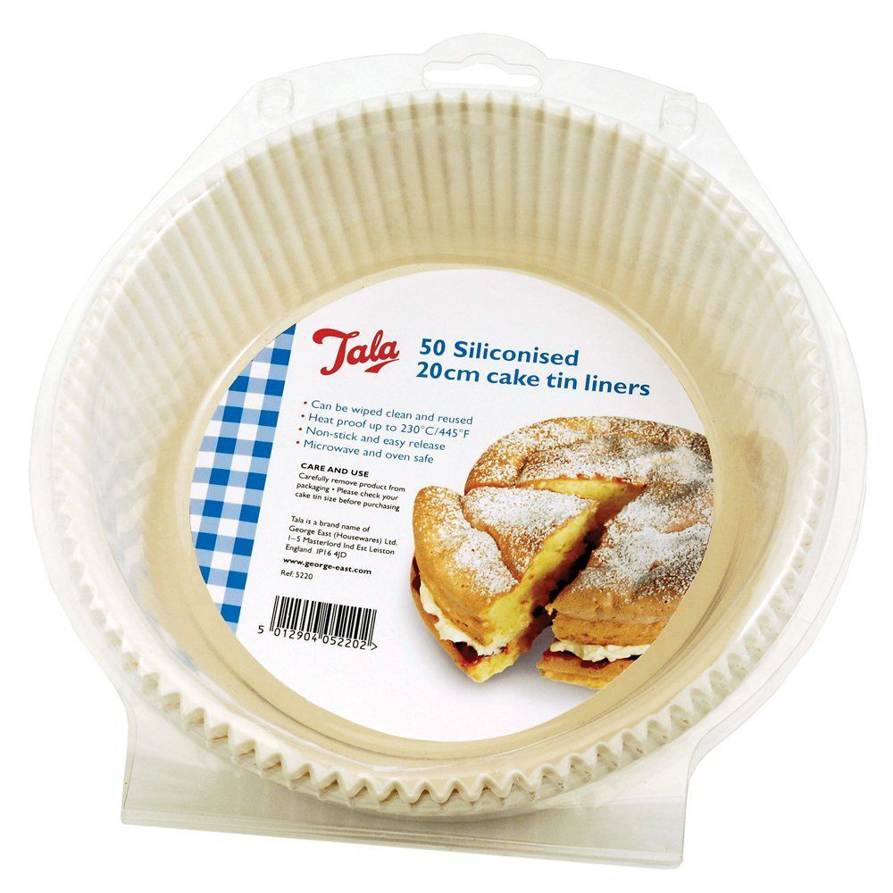 Tala 50 Pack Round Non-Stick Greaseproof Baking Paper Cake